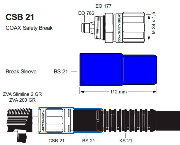 Муфта Elaflex CSB 21 разрывная