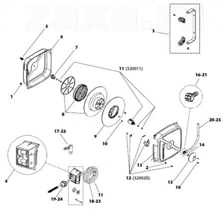 SAMOA 520023 Ремкомплект поворотной опоры для катушки