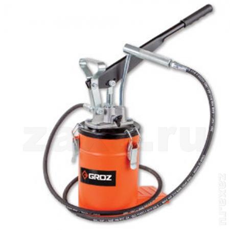 GROZ GR44277 Ручной нагнетатель смазки с ножной опорой с баком 3 кг